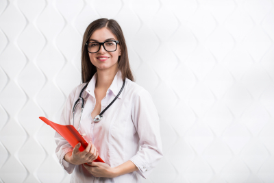 smiling medical young woman